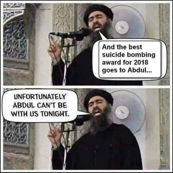Suicide bombing award