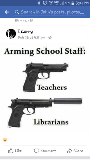 Arming school staff