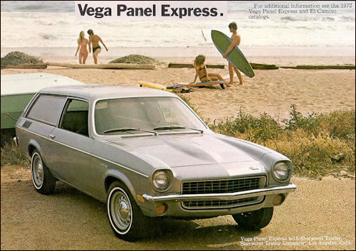 chevrolet 1972 vega panel wagon
