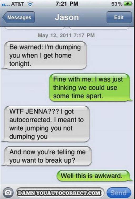 Damn you autocorrect-dump