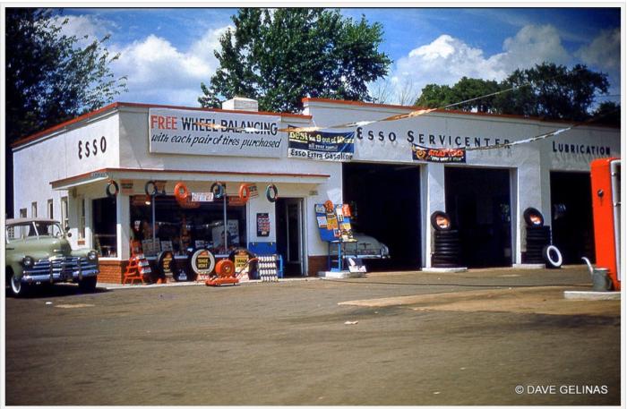 Esso station 1950s
