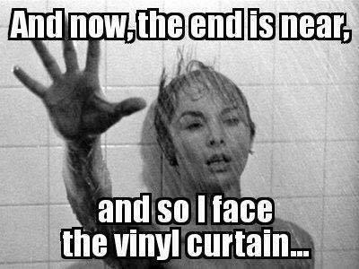 face the vinyl curtain