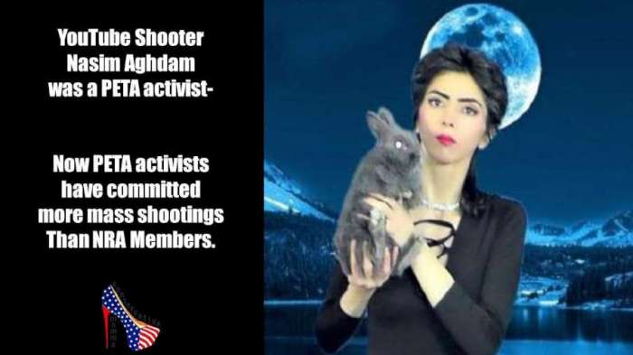 PETA-mass shootings