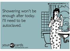 Showering won't be enough