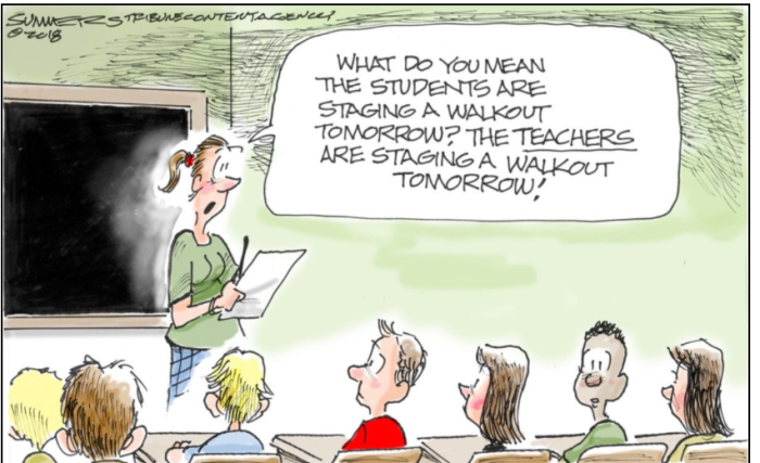 Teacher Walk Out