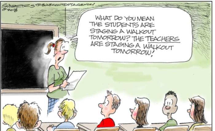 Teacher Walk Out