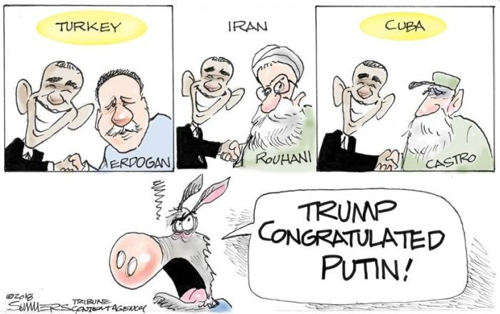 Trump congratualated Putin