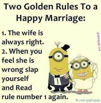 Golden rule of Marriage