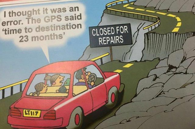 GPS-road closed