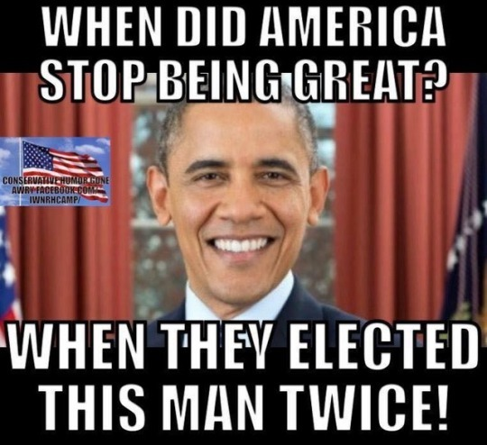 Obama-stopped making America great