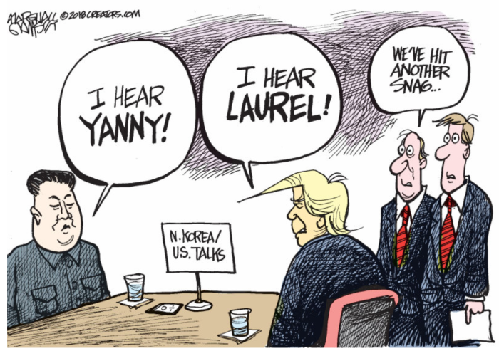 Trump-Kim-Yanny vs. Laurel