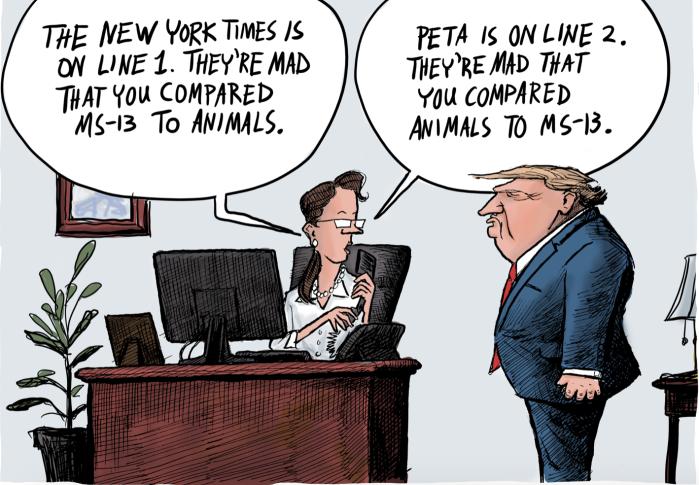 Trump-MS-13 animals