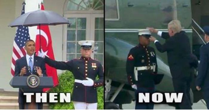 Trump-Obama-Marines