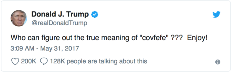Trump-true meaning of Covfefe