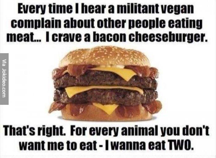 Vegan-bacon cheeseburger