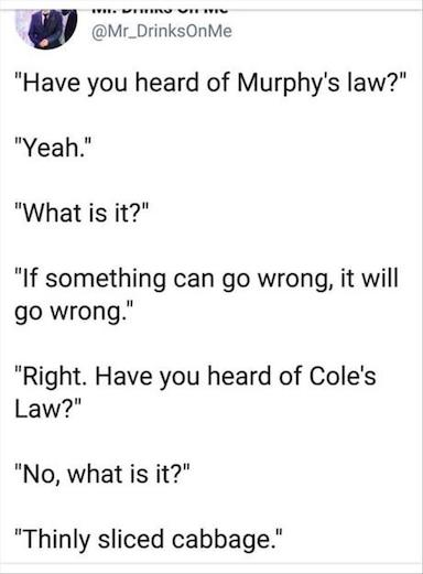 Cole's Law