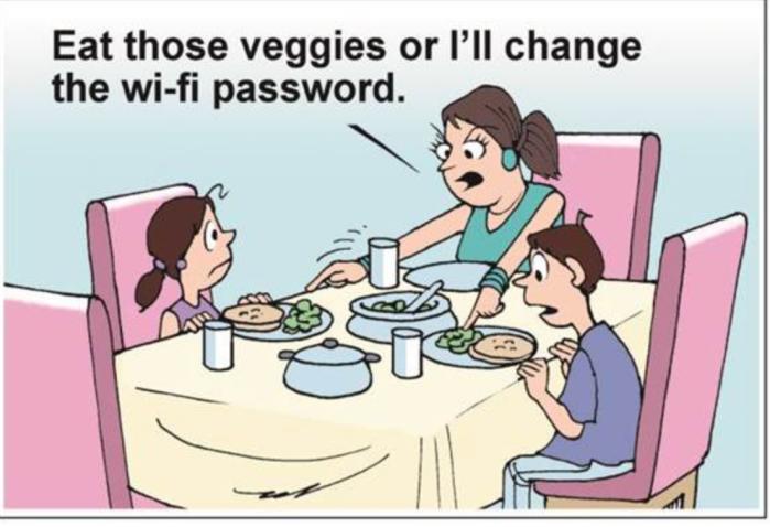 Eat your veggies-WiFi