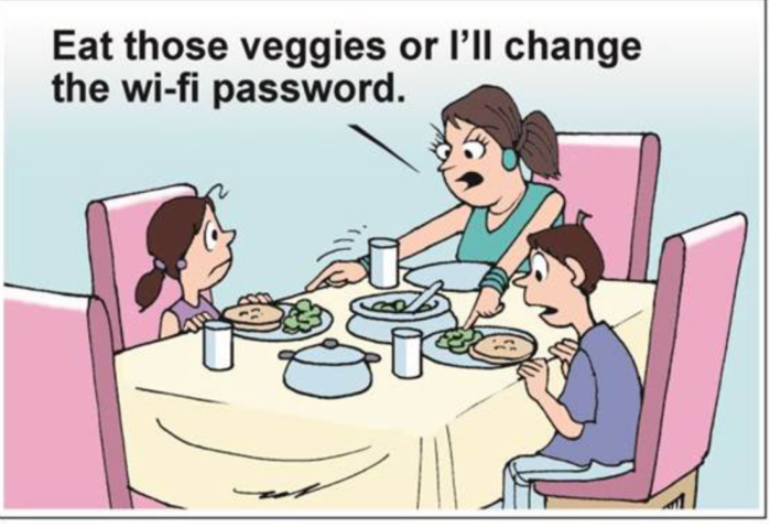 Eat your veggies-WiFi