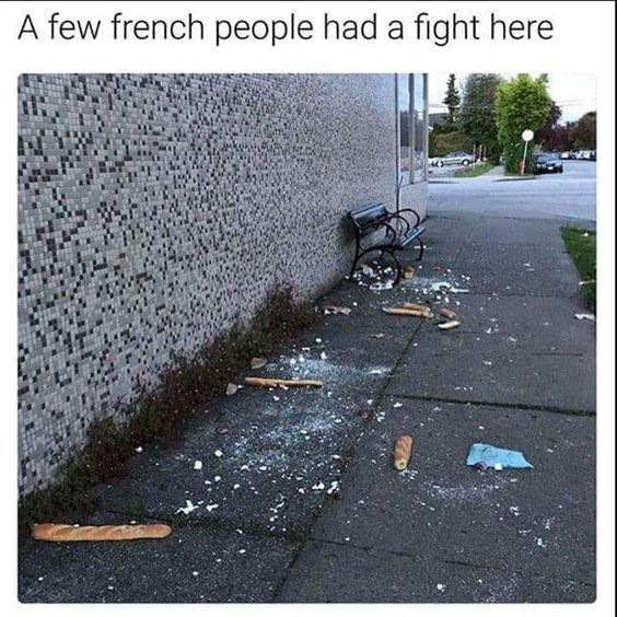 French people had a fight