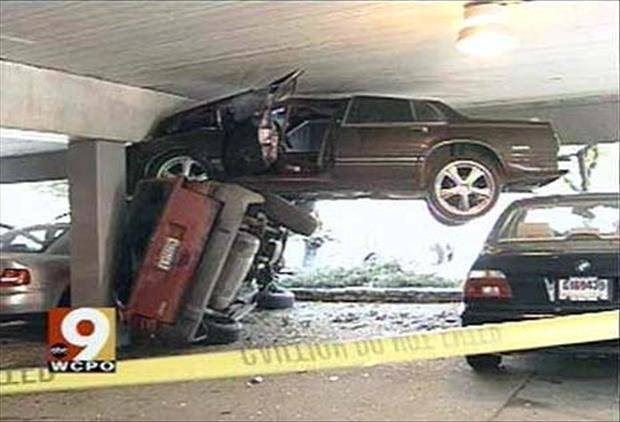 How was Your Monday-garage crash