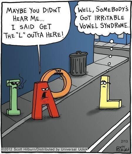 Irritable vowel