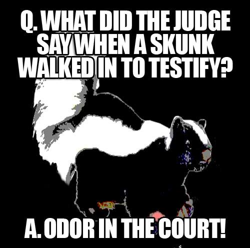 Odor in the court