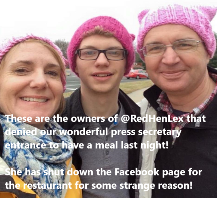 Red Hen owners