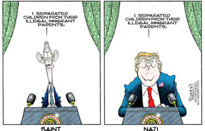 Separated children-Obama vs Trump