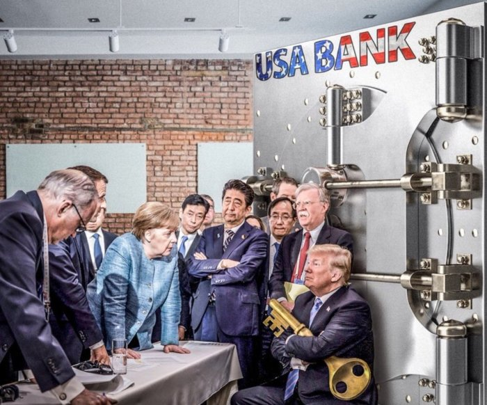 Trump-g7-bank vault