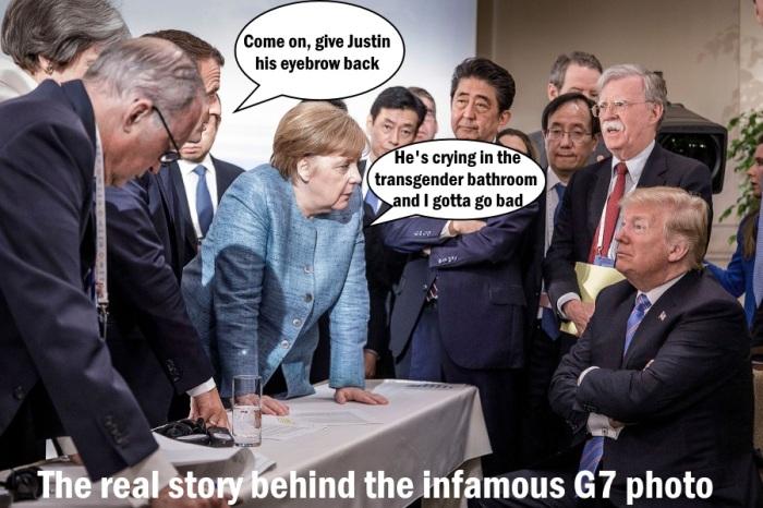 Trump-G7-Justins-eyebrow