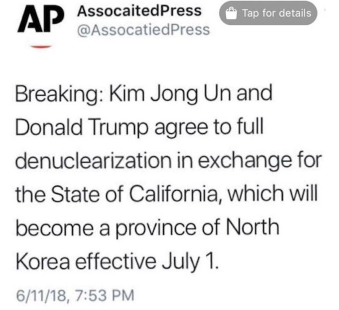 Trump-Kim-California
