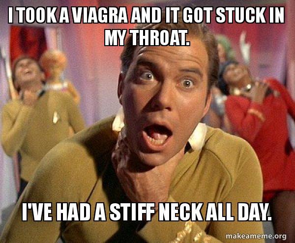 Viagra-stiff neck