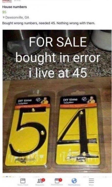 Blonde house numbers