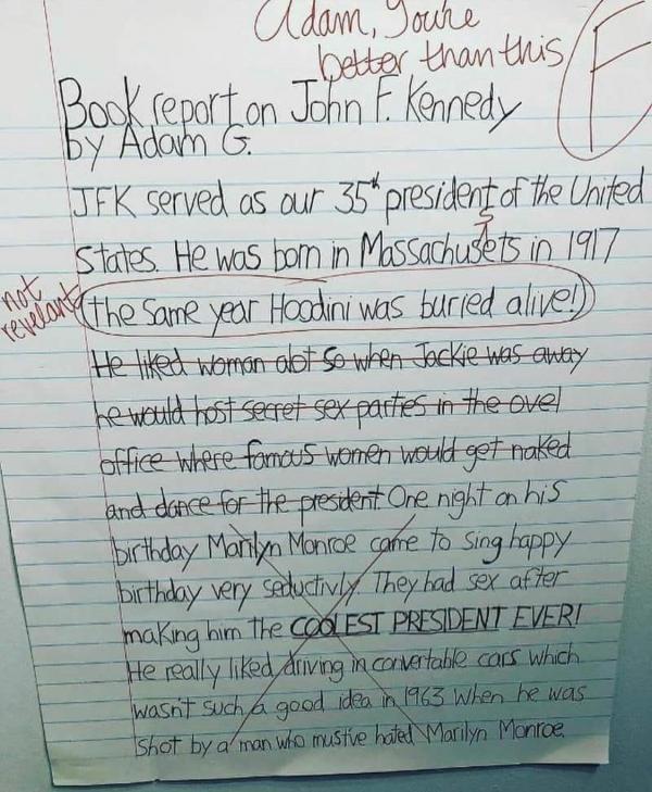 Book report on JFK