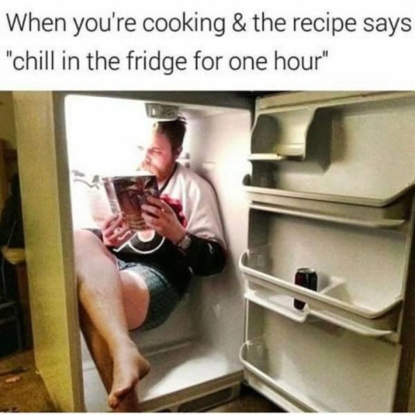 Chill in the fridge