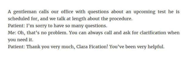 Dr. Mc's Office-Clarification