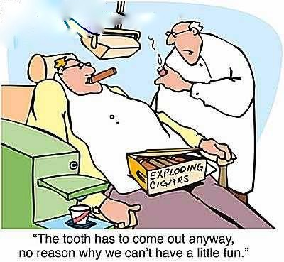 Exploding cigar tooth extraction (1)