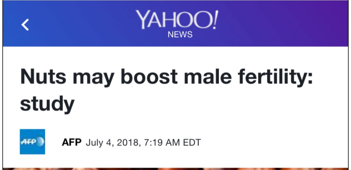 Headline of the day: nuts-male-fertility