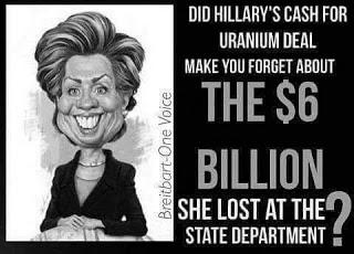Hillary 'lost' $6 billion