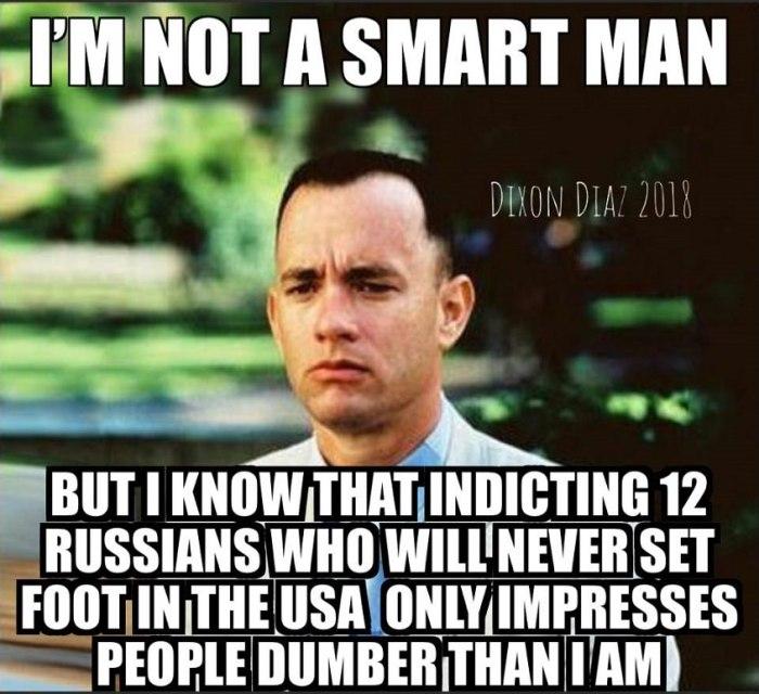 Indicting 12 Russians