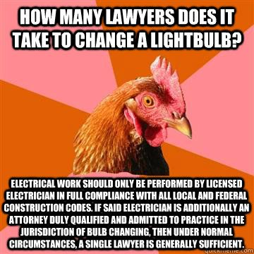 Lawyer-light bulb
