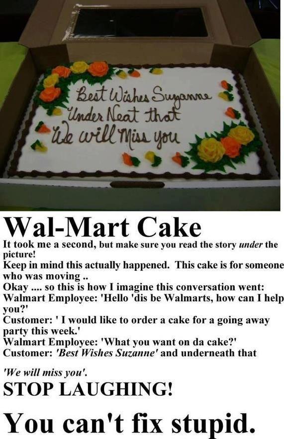 Stupid-Wal-Mart Cake