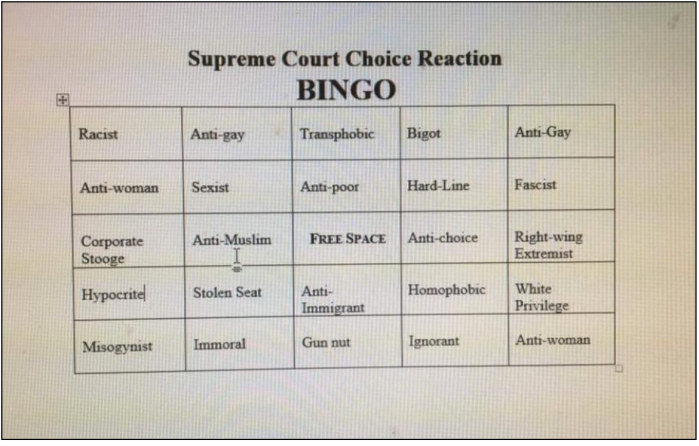 Supreme Court Bingo