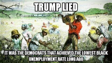 Trump-black unemployment