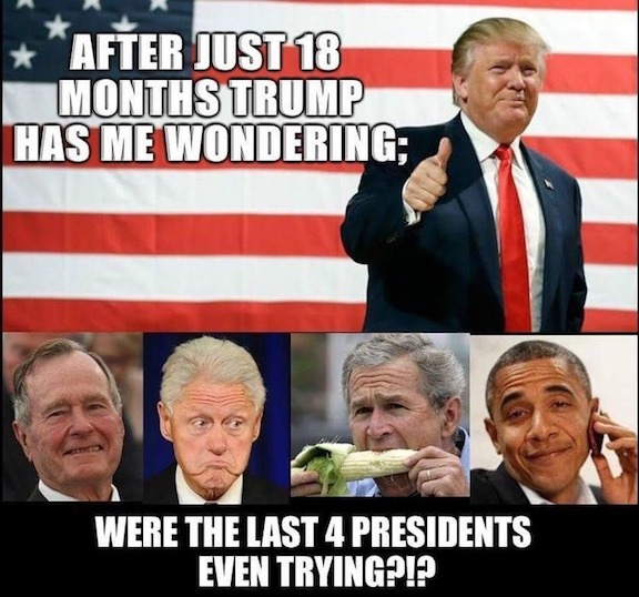Trump-last 4 presidents