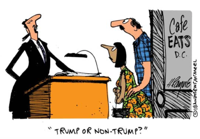 Trump or non-Trump restaurant