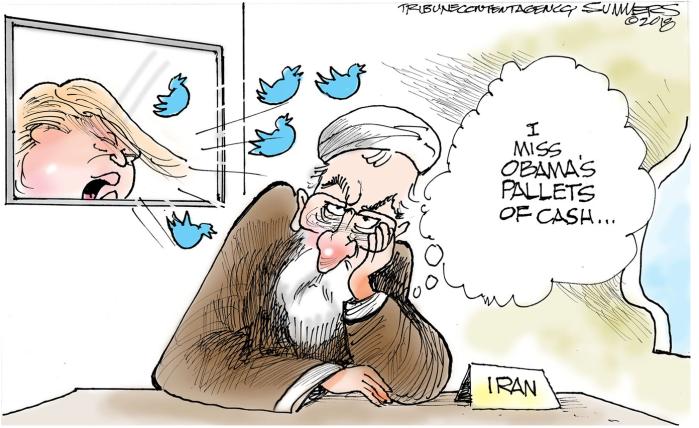 Trump tweets Iran