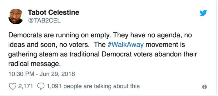#WalkAway Tweet