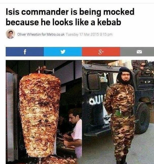 Who wore it better Isis kebab