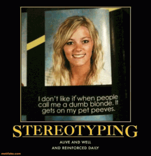 Blonde stereotyping